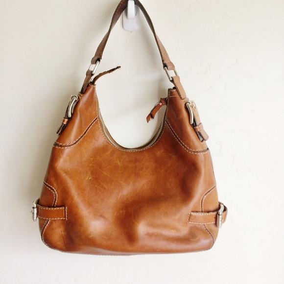 MICHAEL Michael Kors Handbags - Michael Kors Tan Shoulder Bag Silver Metal Buckles